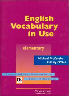 Page 1 English Vocabulary ºn Use elementary Michael McCarthy Felicity O'Dell 60 units of ...