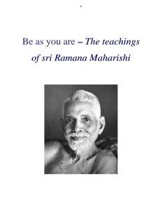 Be as you are – The teachings of sri Ramana Maharishi