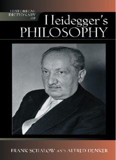 Historical Dictionary of Heidegger's Philosophy (Historical Dictionaries of Religions, Philosophies and Movements)
