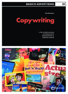 Basics Advertising: Copywriting: The Creative Process of Writing Text for Advertisements or Publicity Material