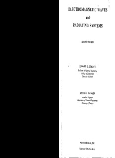 Edward Conrad Jordan Electromagnetic Waves and Radiating Systems Prentice-Hall electrical ...