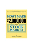 How I Made $2000000 In The Stock Market by Nicolas Darvas