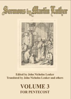 Luther - Sermons of Martin Luther Vol. 3 - Martin Luther's Sermons