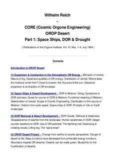 Wilhelm Reich ~ CORE (Cosmic Orgone Engineering) - Rex Research