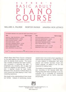 Alfred's Basic Adult Piano Course Lesson Book, Level 1 by Willard A. Palmer