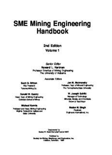 SME Mining Engineering Handbook, 2 Volume Set (Second Edition)