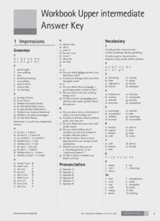 Workbook Upper intermediate Answer Key - English at your fingertips