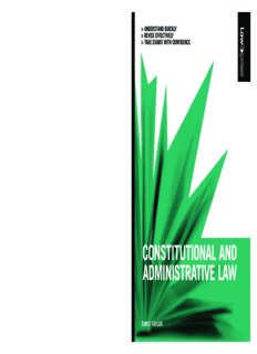 Constitutional & Administrative Law (Law Express)