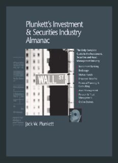Plunkett's Investment & Securities Industry Almanac 2010: The Only Comprehensive Guide to the Investment & Securities Industry (Plunkett's Investment and Securities Industry Almanac)