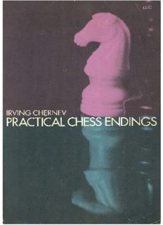 Practical chess endings : a basic guide to endgame strategy for the beginner and the more advanced chess player