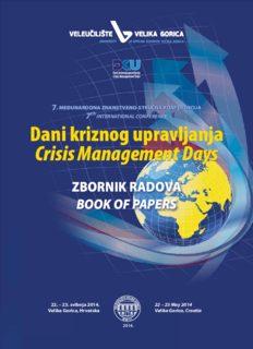 Dani kriznog upravljanja Crisis Management Days Dani kriznog upravljanja Crisis Management