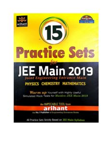 Part 1 8 of 15 Practice Sets for IIT JEE main from Arihant Physics Chemistry Mathematics warm up Engineering Entrance Question Bank Solution Mock Tests