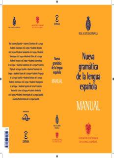 Nueva gramática de la Lengua Española. Manual