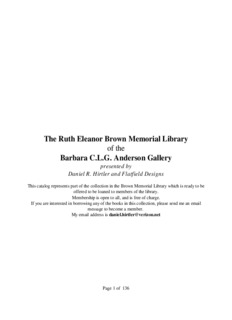 The Ruth Eleanor Brown Memorial Library of the Barbara C.L
