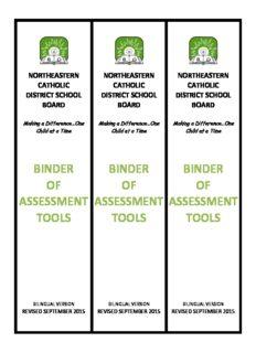 binder of assessment tools binder of assessment tools binder of assessment tools