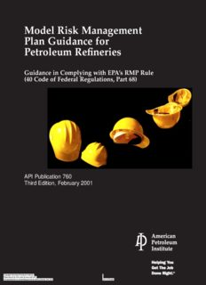 Model Risk Management Plan Guidance For Petroleum Refineries (T.L)
