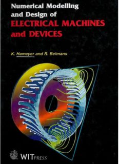 Numerical Modelling and Design of Electrical Machines and Devices (Advances in Electrical and Electronic Engineering) (Advances in Electrical and Electronic Engineering, V. 1)