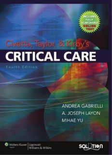 Civetta, Taylor, and Kirby's Critical Care