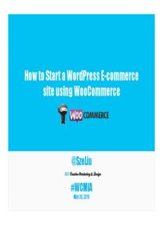 How to Start a WordPress E-commerce site using WooCommerce