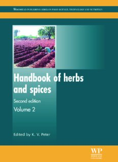 Handbook of herbs and spices: Volume 2, Second Edition