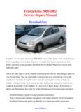 2000-2002 Toyota Echo Service Repair Manual - carfsm.com