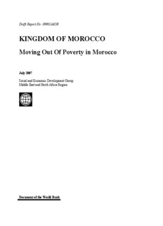KINGDOM OF MOROCCO Moving Out Of Poverty in Morocco