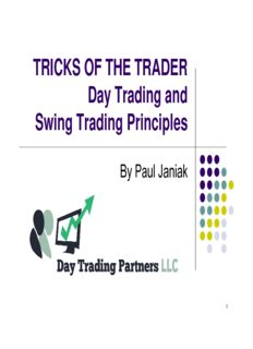 TRICKS OF THE TRADER Day Trading and Swing Trading Principles