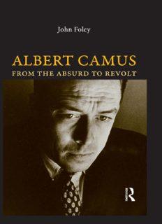 Albert Camus : from the absurd to revolt