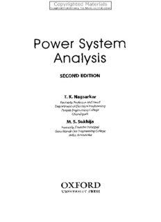 Power System Analysis Power System Analysis, 2nd Ed