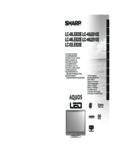 LC-40/46LE820E/LE810E/52LE820E Operation-Manual GB