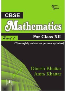 CBSE Mathematics for Class XII - Part I
