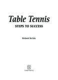 Table Tennis StepS to SucceSS