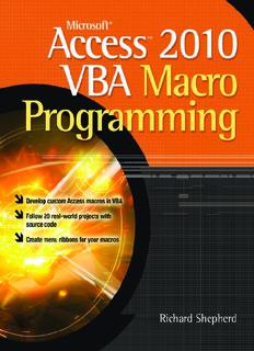 Microsoft Access VBA Macro Programming