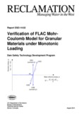 Verification of FLAC Mohr- Coulomb Model for Granular Materials under Monotonic Loading