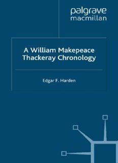 A William Makepeace Thackeray Chronology