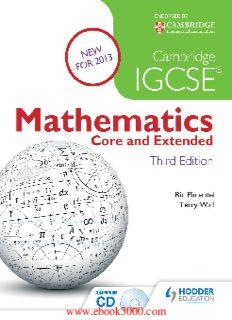 Cambridge IGCSE Mathematics: Core & Extended