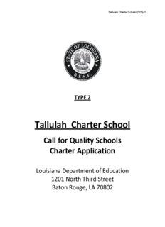 Tallulah Charter School - Cowen Institute for Public Education