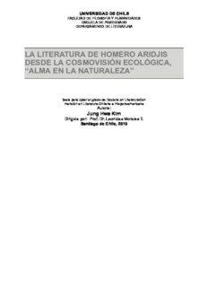 la literatura de homero aridjis desde la cosmovisión ecológica