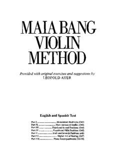 Maia Bang Violin Method, Part IV