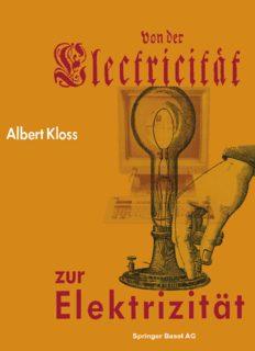 Von der Electricität zur Elektrizität: Ein Streifzug durch die Geschichte der Elektrotechnik, Elektroenergetik und Elektronik