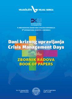 Dani kriznog upravljanja Crisis Management Days Dani kriznog upravljanja Crisis Management ...
