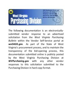 submitted vendor response to an advertised solicitation from the West Virgi