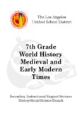7th Grade World History Medieval and Early Modern Times