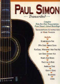 Paul Simon - Transcribed (Paul Simon Simon & Garfunkel)