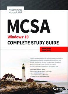 MCSA.  Windows 10 Complete Study Guide.  Exam 70-698 and Exam 70-697