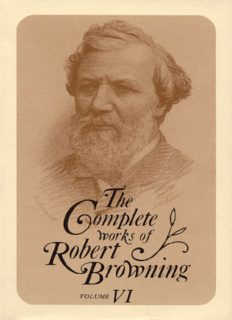 Complete Works of Robert Browning 6: With Variant Readings & Annotations (Complete Works Robert Browning)
