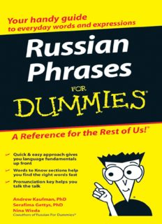 Russian Phrases For Dummies (For Dummies (Language & Literature))