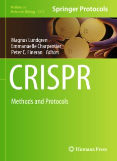 CRISPR: Methods and Protocols