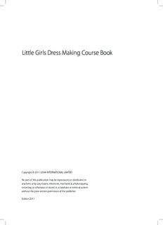Little Girls Dress Making Course Book - Usha Initiatives