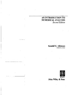 Kendall Atkinson, An Introduction to Numerical Analysis-Wiley